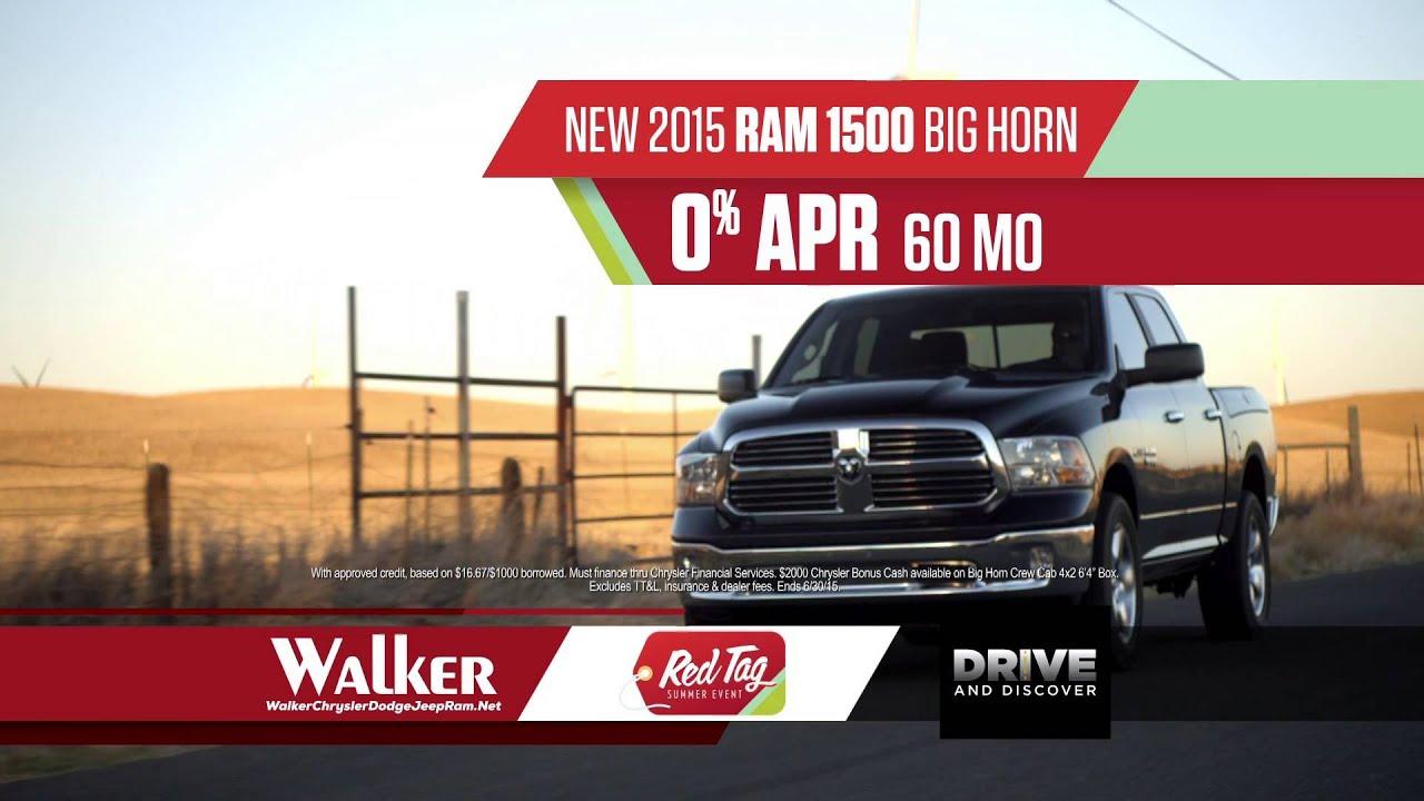 Walker Chrysler Dodge Jeep Ram 2017 Red Tag Summer Event