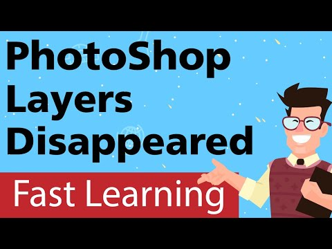 Adobe Photoshop layers disappeared