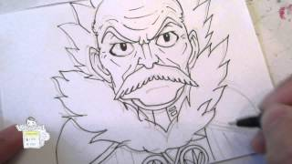 How to draw Makarov Dreyar マカロフ・ドレアー