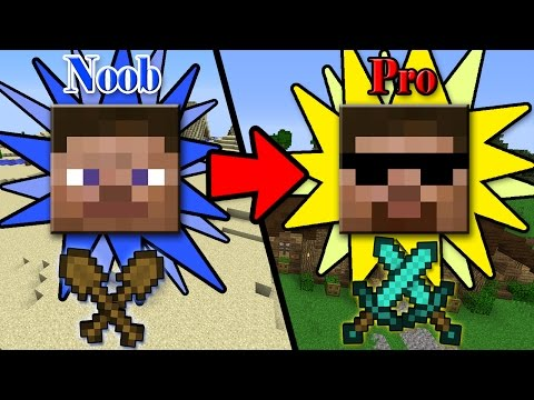 5 FAST&EASY Ways to Transform from NOOB to PRO in Minecraft