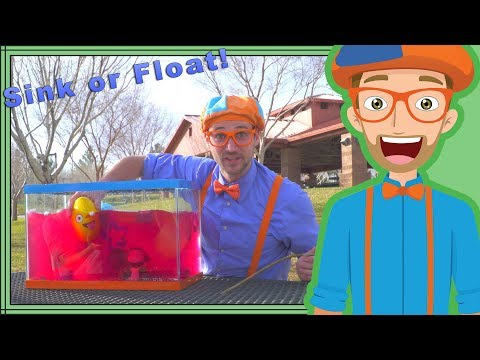 Sink Or Float With Blippi | Fun Science Videos For Kids
