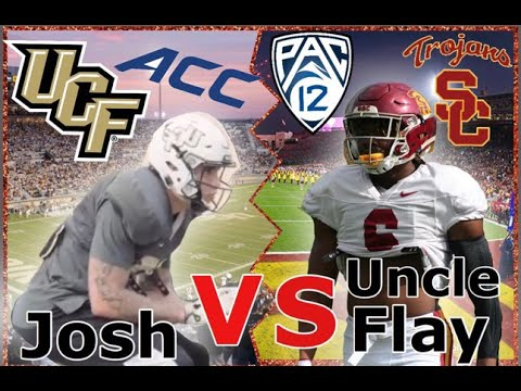 NCAA USC Football Player Vs UCF Football Play Day In Of The Life... PAC 12 Vs Undefeated Champs ??