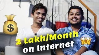 How I Earn 2 Lakh Per Month on Internet : Harsh Chauhan (Pro Blogger) Interview by Satish Kushwaha