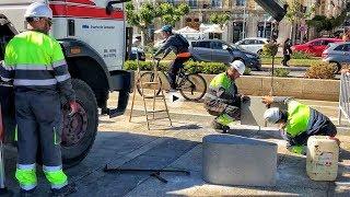 10 piezas de prefabricados cierran el muelle Calderon al paso de vehículos