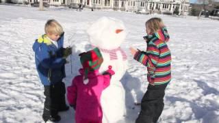 "como hacer un muñeco de nieve / how to make a snowman ""pata de perro #2"""