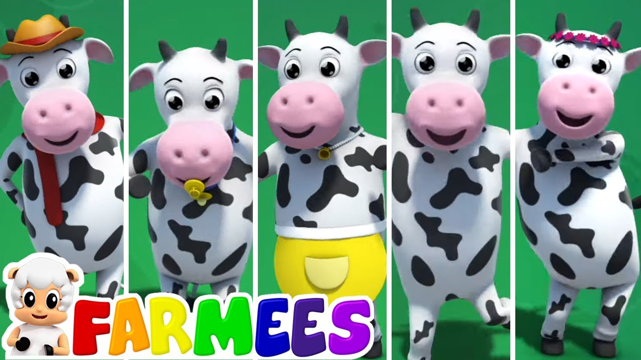 Famiglia dito di mucca | Canzoni per bambini | Filastrocche in italiano | Farmees | Cartoni animati