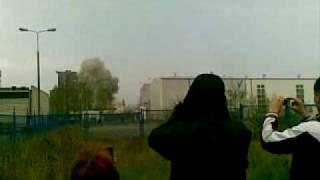 burzenie komina elektrowni konin