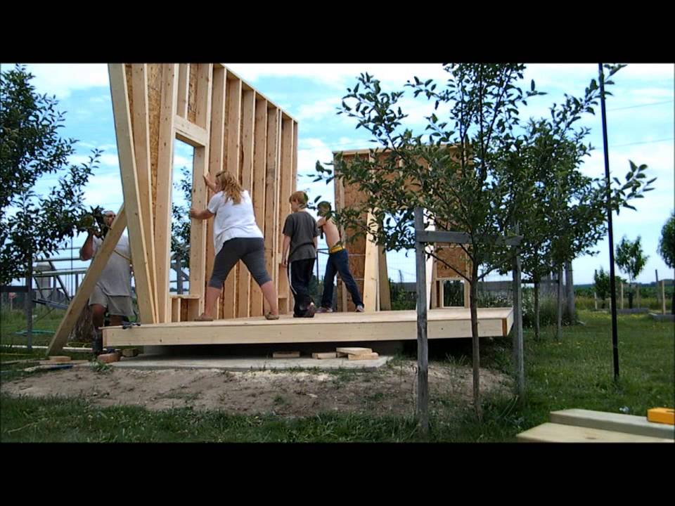 Building A Shed Part 3 Putting Up The Walls Youtube
