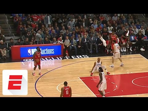 James Harden crosses Wesley Johnson to ground, waits for him to get up before hitting jumper | ESPN
