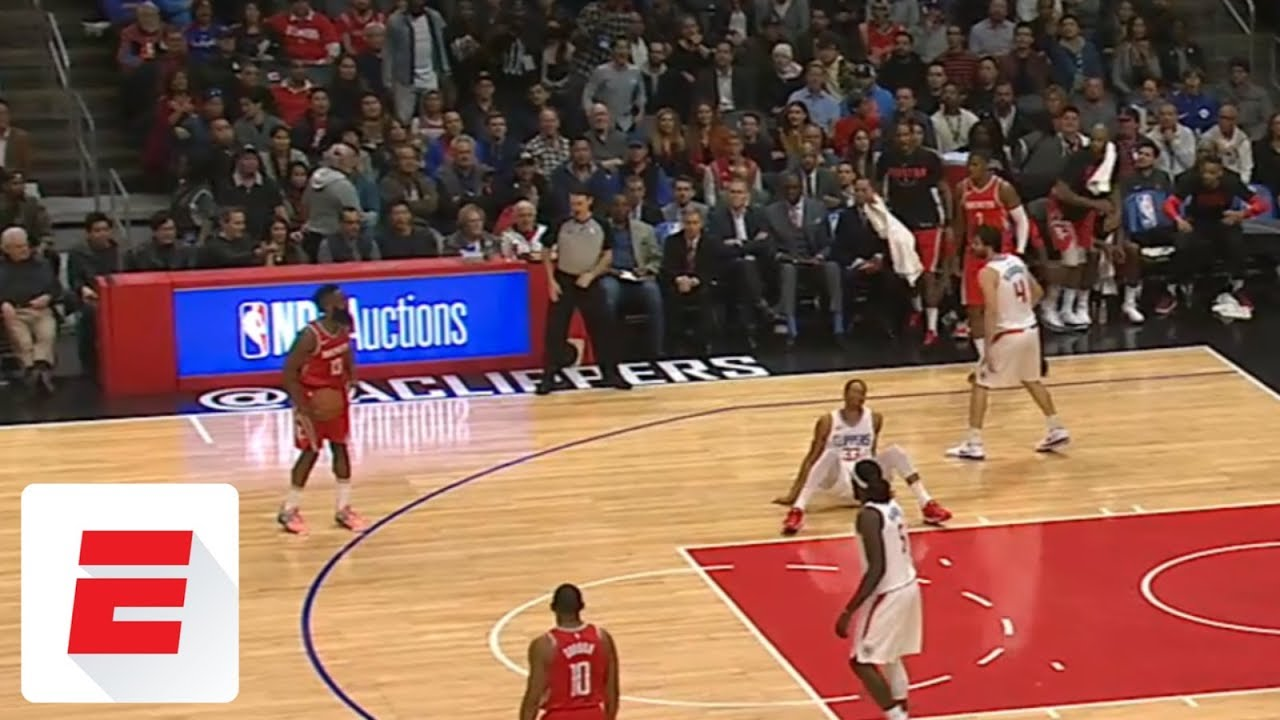 393c3ca3e481 James Harden crosses Wesley Johnson to ground