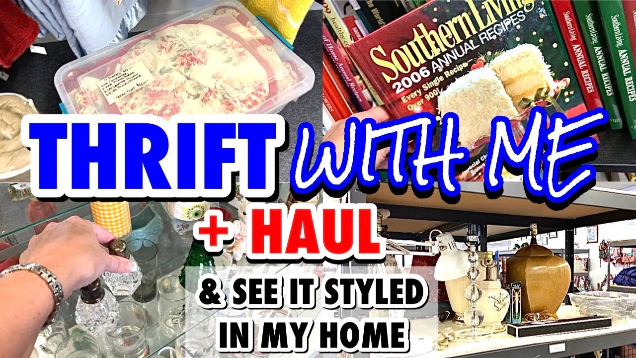 GOODWILL THRIFT WITH ME ? * OR HOME DECOR THRIFT SHOPPING SOMEWHERE ELSE ? HUGE DECOR THRIFT HAUL *
