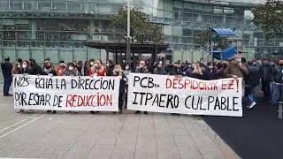 Plantilla de PCB de concentra en Bilbao para denunciar los despidos