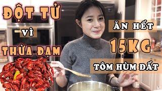 Vlog#6 - Ăn hết 15 kg tôm hùm đất - Vào bếp cùng bà Gà  [ Cuộc sống ở Mỹ của Gà Tây Tây]