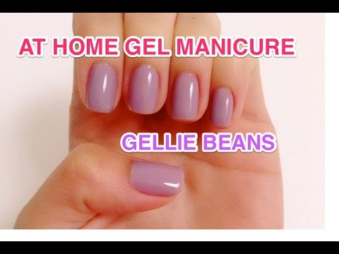 First time trying at home gel manicure - Natalie\'s Creations - YouTube