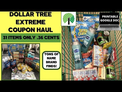 Dollar Tree Extreme Coupon Haul Come With Me In Store Name Brand Items For Free Or Under 1 00 Youtube