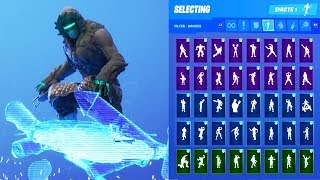 ZENITH SKIN SHOWCASE WITH ALL FORTNITE DANCES & EMOTES
