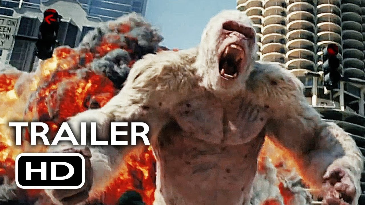 Rampage Official Trailer 1 2018 Dwayne Johnson Monster Action
