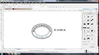 tutorial cara membuat setempel berbentuk lonjong atau oval dengan coreldraw x4