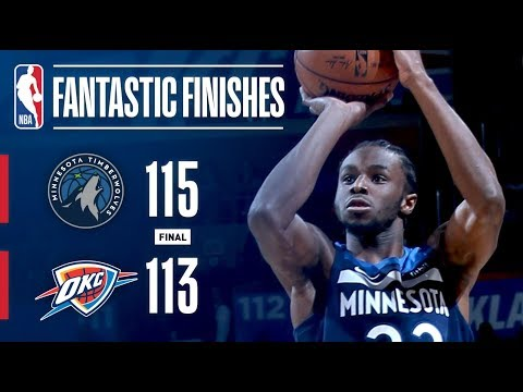 CLUTCH Moments Down the Stretch Between Timberwolves and Thunder | October 22, 2017