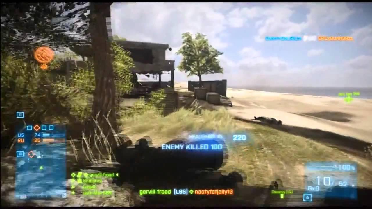 Battlefield 3 - L96 Sniper Montage HD