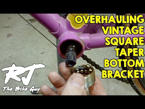 Square Taper Bottom Bracket Service - How To Overhaul/Remove/Clean/Install