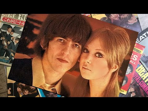 ♫ George Harrison with his new wife, the model Pattie Boyd, 1966