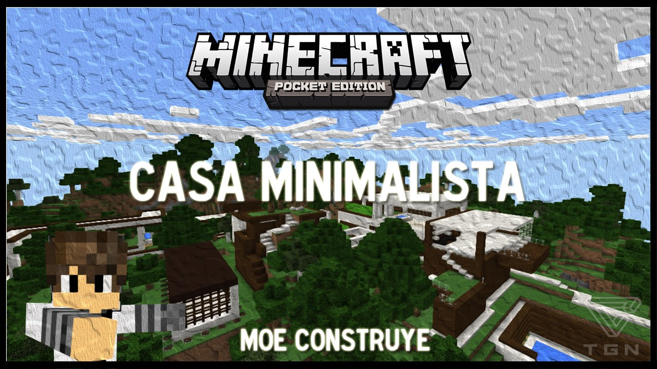 Casa minimalista minecraft pe 3 youtube for Casa minimalista minecraft