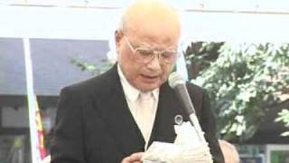 平成23年8/15戦歿者追悼中央集会(中條高徳氏)