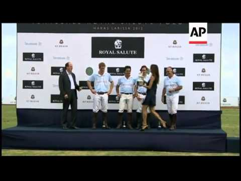 Britain's Prince Harry takes part in charity polo match in Brazil