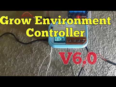 Grow Environment Controller V6.0 Buttons,Menus,Settings in EEPROM