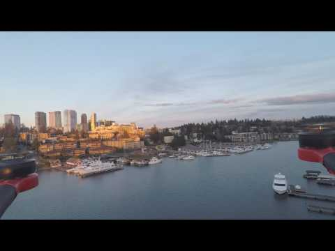 Flying Over Meydenbauer Bay into Downtown Bellevue [Drone Logs]