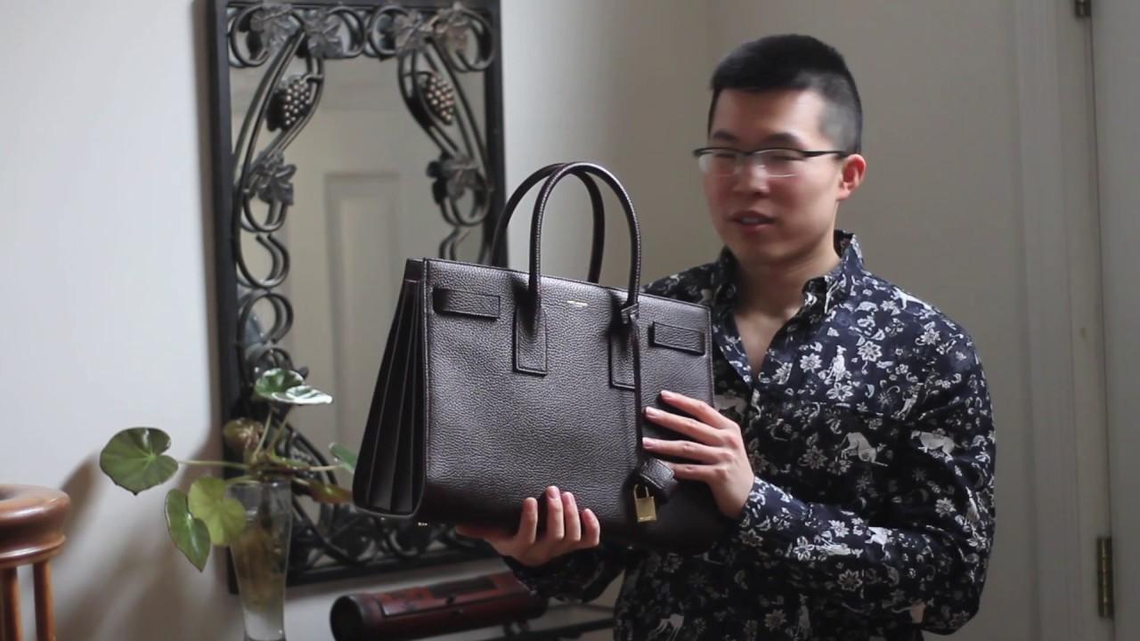 c1069f1f3ca Saint Laurent Paris Sac De Jour Bag Review - YouTube