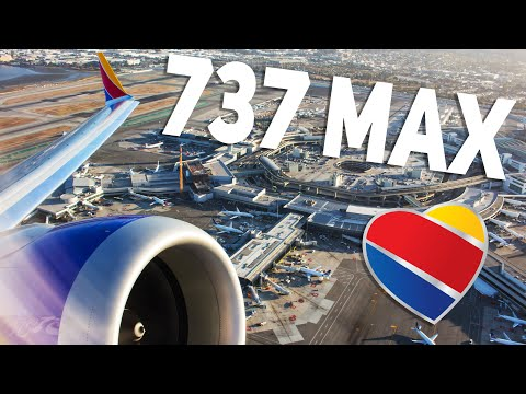HD Southwest Airlines Boeing 737 MAX 8 N8713M Takeoff from San Francisco International Airport