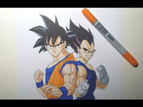 Speed Drawing Goku & Vegeta (HD) 悟空&ベジータ