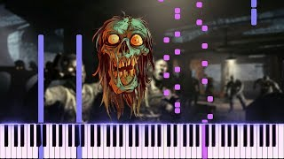 CoD Black Ops 1 Zombies Theme (Damned) - Piano Synthesia Tutorial