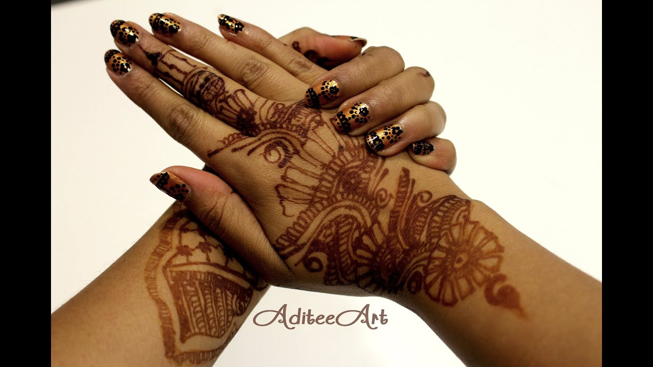 henna nail art