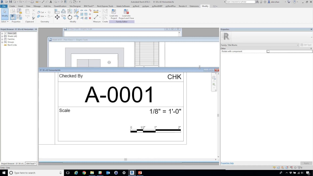 Update Revit Sheet Graphic Scale