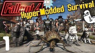 F*CK VANILLA! - HyperModded Fallout 4 Survival - Episode 1