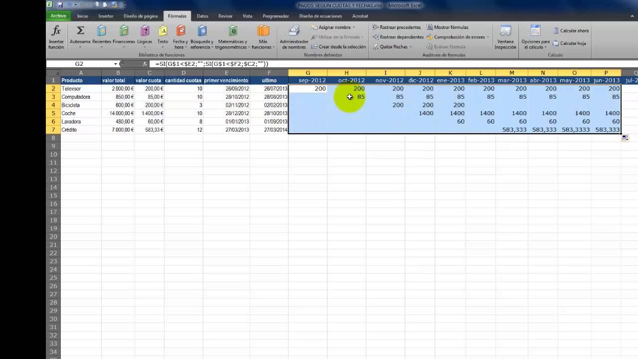 Excel Fácil - Planificación de Pagos - YouTube
