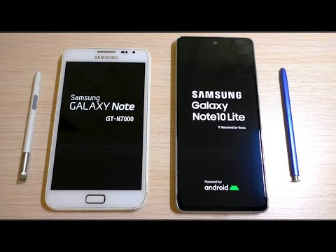 Samsung Galaxy Note1 Vs Note10 Lite Bootanimation
