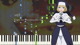 Cover images veil - Fire Force (Enen no Shouboutai) ED - Piano Arrangement [Synthesia]
