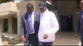 Raila Odinga Visits Ailing Businessman Chris Kirubi
