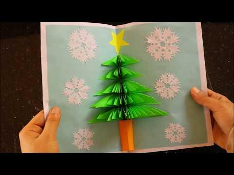 3D  Pop up Card With Christmas Tree 5- DIY  Xmas Paper  Craft