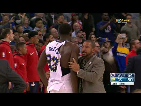 Draymond Green and Bradley Beal Get Ejected For Fighting During Warriors vs. Wizards