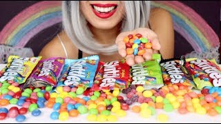 ASMR Eating Candy | Skittles | Sorting for Relaxation *No Talking*