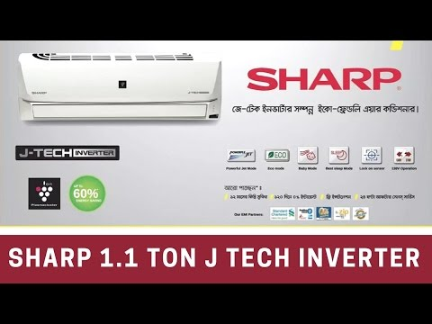 Sharp 1.1 Ton J Tech Inverter Air Conditioner  review & unboxing