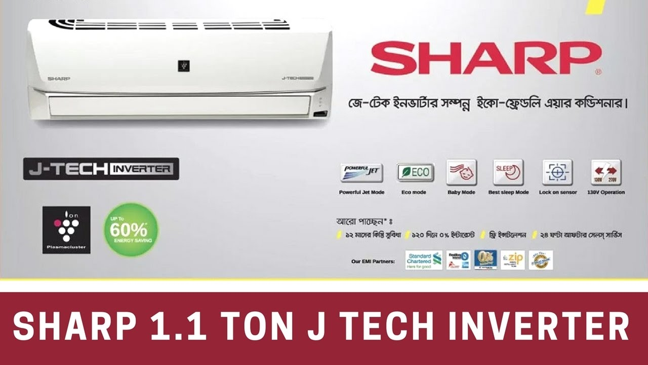 Sharp 1 1 Ton J Tech Inverter Air Conditioner Review