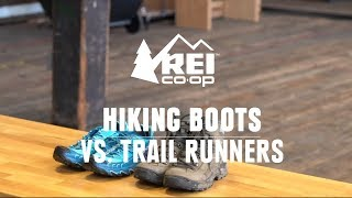 Compare: Hiking Boots vs. Trail Runners || REI