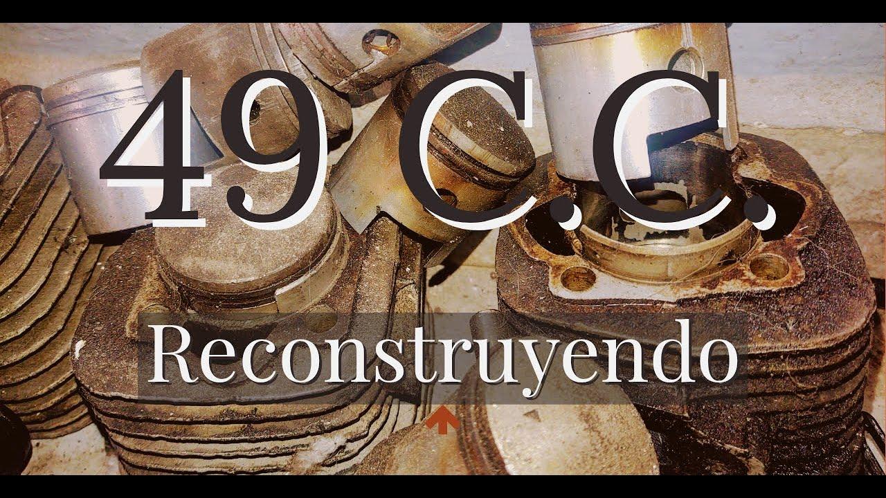 RECONSTRUYENDO UN MOTOR 49 CC DE 15 AÑOS PARA BICICLETA//MOTOBICI//CIUDAD DE MEXICO//2 TIEMPOS
