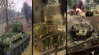 All WW2 Call of Duty Tank Missions (Evolution of Tank Missions in Call of Duty)